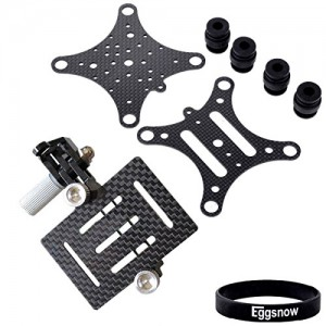 Eggsnow-GoPro-Hero-4-Hero-3-Hero-3-Anti-Vibration-Anti-Jello-Vibration-Dampener-Carbon-Fiber-Plate-Mount-for-DJI-Phantom-Black-0