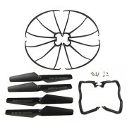 Hometalksupgraded-4-Colors-Syma-X5-X5c-X5c-1-New-Version-Spare-Parts-16pcs-Main-Blade-Propellers-16pcs-Propeller-Protectors-Blades-Frame-8pcs-Landing-Skid-Included-Mounting-Screws-for-Rc-Mini-Quadcopt-0-0