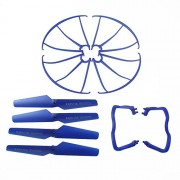 Hometalksupgraded-4-Colors-Syma-X5-X5c-X5c-1-New-Version-Spare-Parts-16pcs-Main-Blade-Propellers-16pcs-Propeller-Protectors-Blades-Frame-8pcs-Landing-Skid-Included-Mounting-Screws-for-Rc-Mini-Quadcopt-0-3