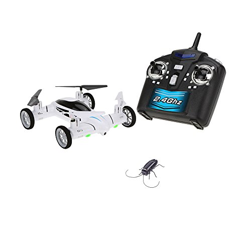 SY-X25-4CH-6-Axis-Gyro-Air-Gronud-RC-Flying-Car-with-20MP-Camera-360-Degree-Flips-Auto-Return-Function-and-Extra-Solar-Cockroach-0