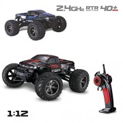 Visionlight-RC-CARS-30MPH-112-Scale-RTR-Remote-control-Brushed-Monster-RC-Vehicle-Truck-Off-road-Car-Big-Foot-2WD-W24G-Red-0-7